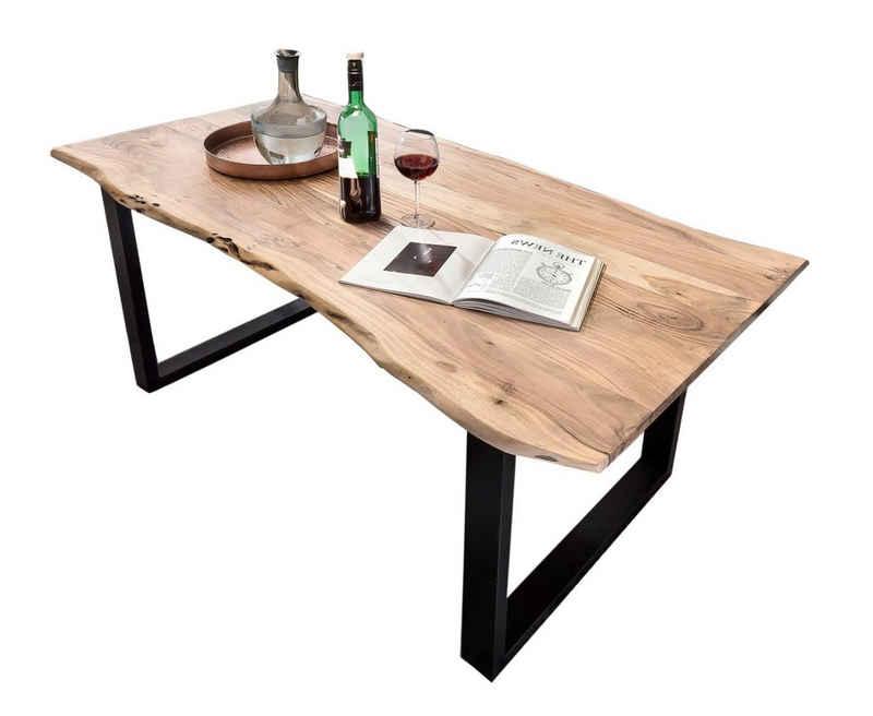 SAM® Baumkantentisch »Lennart« (1 Tischplatte, 2-er Set Füße), Akazie Massivholz naturfarben natürliche Baumkante