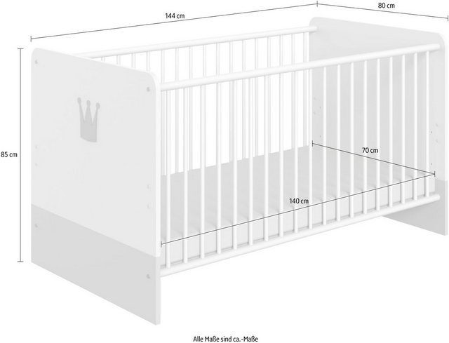 Babybetten - Wimex Babybett »Cindy2«, mit Schlupfsprossen  - Onlineshop OTTO
