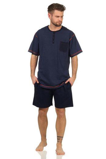 Normann Pyjama »Lässiger Herren Shorty Schlafanzug Pyjama kurzarm - 112 105 90 620«