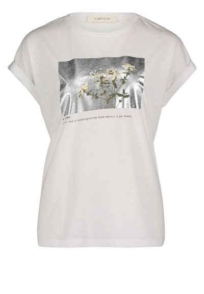 Cartoon T-Shirt »mit Blumenprint« Foliendruck