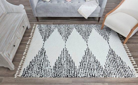 Teppich »Mason Shag Heath«, CosmoLiving by Cosmopolitan, rechteckig, Höhe 22 mm, mit Fransen, Wohnzimmer