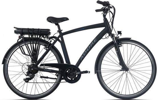 Adore E-Bike »Versailles«, 7 Gang Shimano Tourney Schaltwerk, Kettenschaltung, Heckmotor 250 W