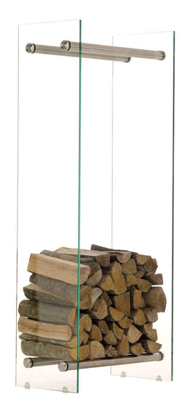 CLP Kaminholzregal »Dacio Klarglas«, Kaminholzständer mit Querstreben, Brennholzregal