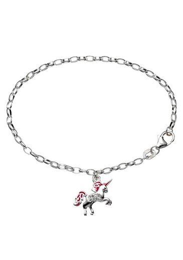 Firetti Armband »Einhorn, glänzend, massiv«, mit Zirkonia und Lack