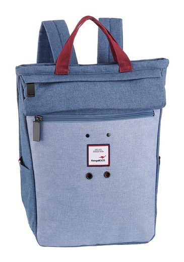 KangaROOS Cityrucksack, kann auch als Tasche getragen werden