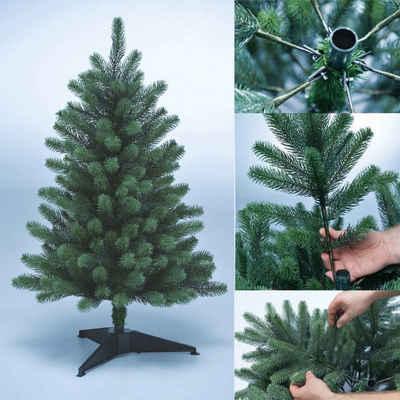 Xenotec Künstlicher Weihnachtsbaum »Xenotec Premium Weihnachtsbaum – naturgetreu – künstlicher Weihnachtsbaum – im Spritzgussverfahren hergestellt – unechter Tannenbaum – PE-Weihnachtsbaum«, Spritzguss, Nordmanntanne, natürlich eingefärbte Zweige