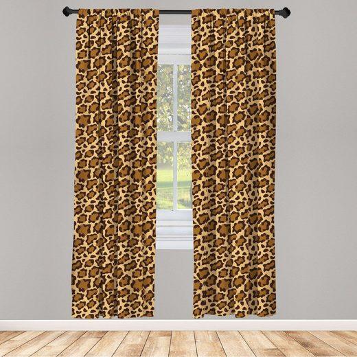 Gardine »Fensterbehandlungen 2 Panel Set für Wohnzimmer Schlafzimmer Dekor«, Abakuhaus, Leopard-Druck Panthera Specie Haut