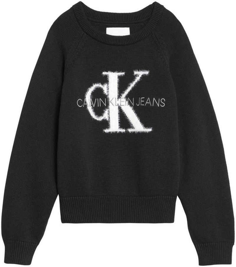 Calvin Klein Jeans Strickpullover »MONOGRAM LOGO SWEATER« mit eingestricktem Logo