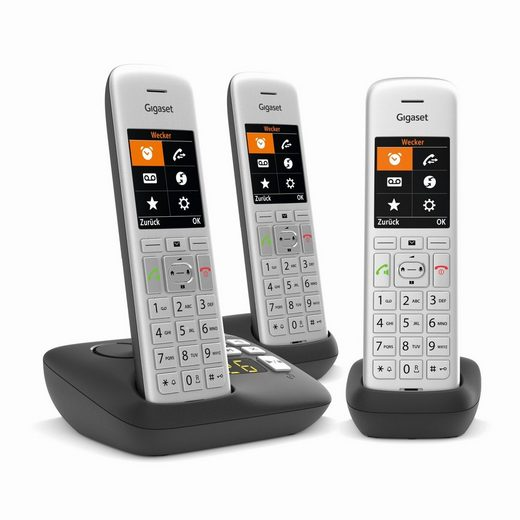 Gigaset »CE 575A« Festnetztelefon (Freisprechfunktion, Anruferliste, Anrufersperre, Hörgeräte kompatibel, Strahlungsarm)
