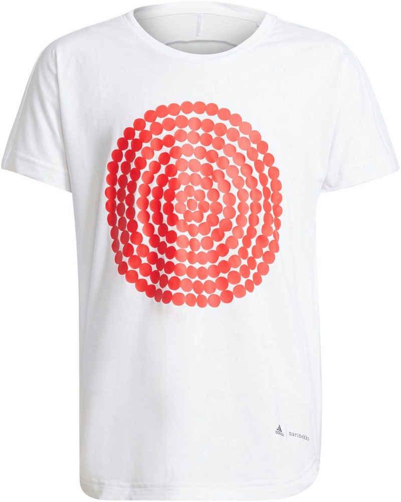 adidas Performance T-Shirt »MARIMEKKO PRIMEGREEN AEROREADY LOOSE GRAPHIC TEE«