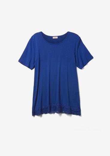 TRIANGLE Kurzarmshirt »T-Shirt mit Spitze am Saum« (1-tlg) Spitze