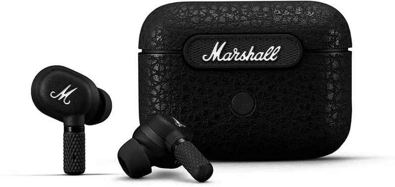 Marshall »Motif ANC« wireless In-Ear-Kopfhörer (Bluetooth, mit IPX4 spritzfester Ladebox im Taschenformat, für pausenlosen Musikgenuss)