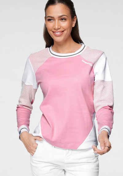 KangaROOS Sweatshirt im Colorblocking-Design mit Pünktchen
