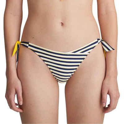 Marie Jo Bikini-Hose »Manuela Bikini Hüftslip mit Schnüren«, Streifendesign mit einfarbiger Rückseite, Mit Bändern an den Seiten, Sportliche Optik