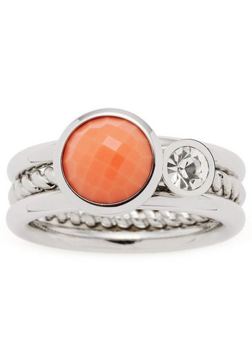 LEONARDO Ring-Set »Letizia, 017917, 18, 19« (Set, 2-tlg), mit Glas- und Kristallstein