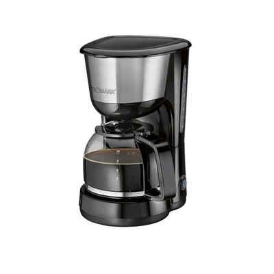 BOMANN Filterkaffeemaschine, 1000 Watt Kaffeemaschine Edelstahleinlage Filterkaffee Bomann KA 1580 CB Schwarz Inox