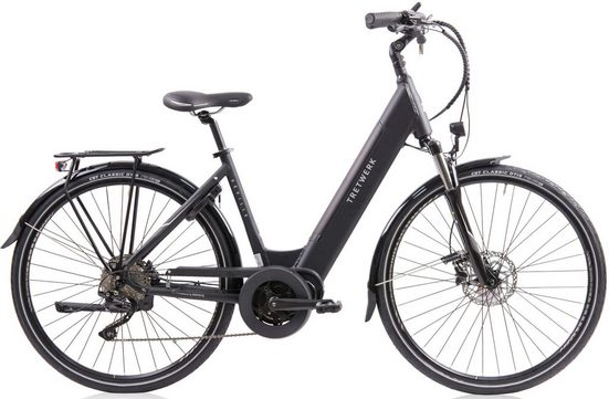 Tretwerk E-Bike, 10 Gang Shimano Shimano Deore Schaltwerk, Kettenschaltung, Mittelmotor 250 W