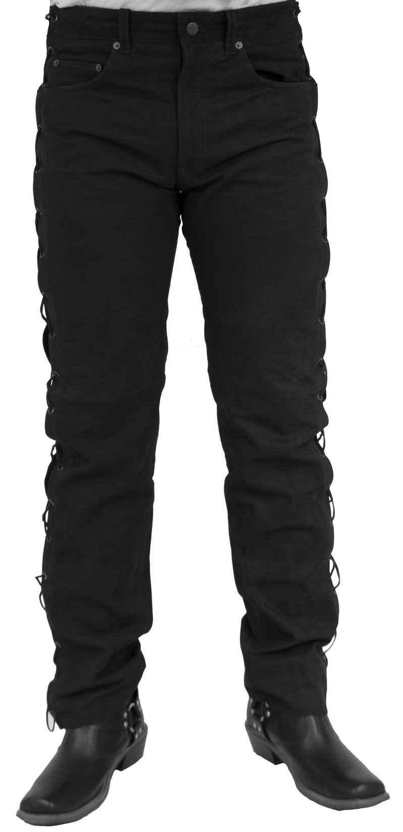 RICANO Lederhose »NBK-101« Hochwertige Büffel-Nubuk Leder im Five-Pocket-Leder-Jeans-Style; Seitliche Schnürung