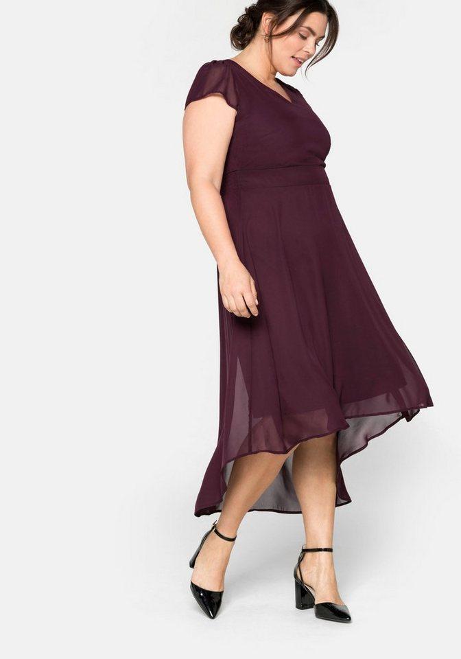 Festtagsmode - Sheego Abendkleid mit Flügelärmeln › rot  - Onlineshop OTTO