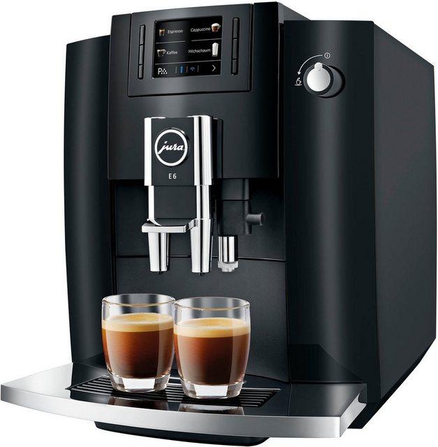 JURA Kaffeevollautomat 15377 E6 Piano Black EB
