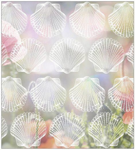 MYSPOTTI Fensterfolie »mySPOTTI look Shells white«, 90 x 100 cm, statisch haftend