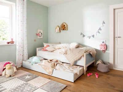 Lüttenhütt Bettschubkasten »Janne«, aus schönem massivem Kiefernholz, ausziehliege Schlafgelegenheit für Gäste, inklusive Lattenrost, in verschiedenen Farbvarianten enthältlich, Liefefläche 90x200 cm