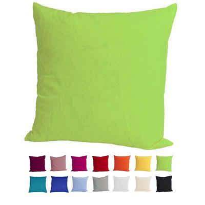 Kissenbezug »Basic«, beties, Kissenhülle ca. 40x40 cm 100% Baumwolle in vielen fröhlichen Uni-Farben (apfelgrün)