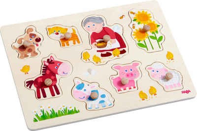 Haba Steckpuzzle »Oma Lenis Tiere«, 8 Puzzleteile