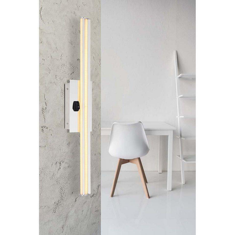 etc shop Wandleuchte, LED Wand Lampe opal IP20 Badezimmer Beleuchtung  Design Leuchte chrom H 20 cm online kaufen   OTTO
