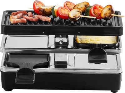 Tefal Raclette Plug & Share Raclette-Grill RE2308, 2 Raclettepfännchen, 400 W