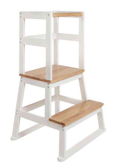 BOMI Stehhilfe »Lernturm Swubi« (1 Stück), Montessori Kinder Schemel Kinderhocker aus Holz