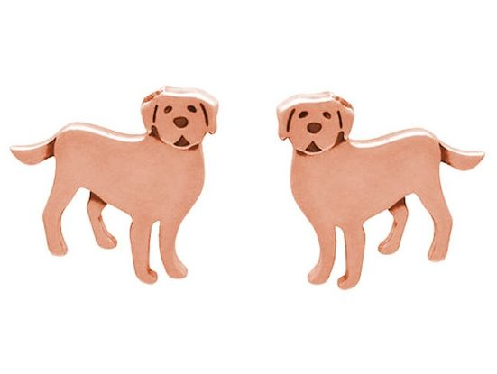 Gemshine Paar Ohrstecker »LABRADOR oder GOLDEN RETRIEVER HUND«, Schmuck für Tierfans Made in Spain
