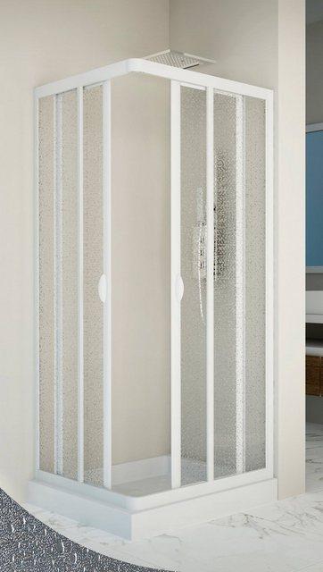 Duschen und Zubehör - Forte Eckdusche »Vela«, BxT 90x90 cm, Kunststoff, variabler Verstellbereich, BxH 90 x 185 cm  - Onlineshop OTTO