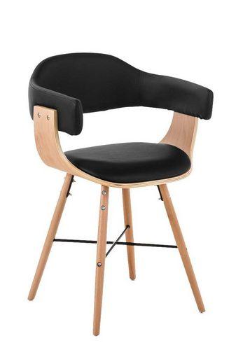 CLP Esszimmerstuhl »Barrie V2« gepolsteter Holzstuhl, Design, Kunstlederbezug