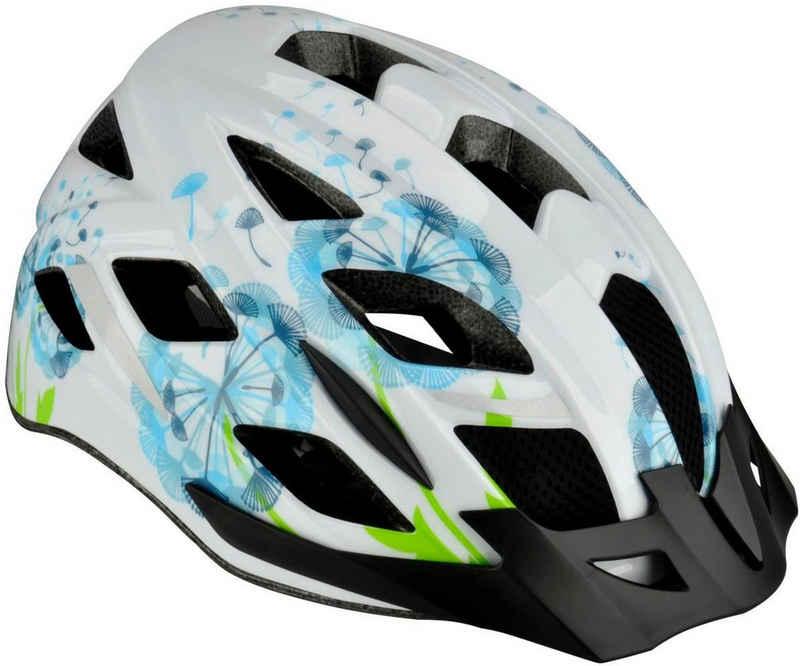 FISCHER Fahrräder Fahrradhelm »Fahrradhelm Urban Flower S/M«, Verstellbarer Innenring-System; mit beleuchtetem Innenring-System