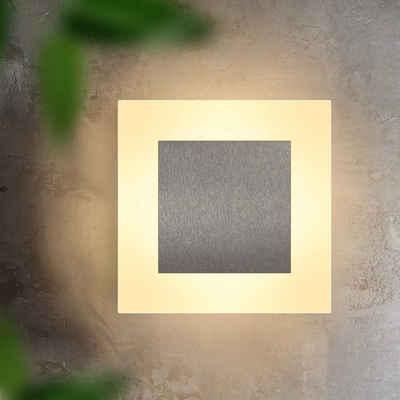 ZMH Wandleuchte »Wand Beleuchtung Flur modern Wohnzimmer dreieckig 3000K warmweiß aus Eisen & Acryl 16cm 6.9W Flurlampe für Treppenhaus Schlafzimmer Arbeitszimmer«