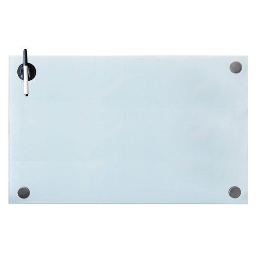 Mucola Magnettafel »Glasmagnettafel Weiß Magnetboard Memoboard Wandtafel Pinnwand Glastafel Magnettafel Whiteboard Magnetwand Schreibtafel Präsentationstafel«, mit Magneten, Whiteboardmarker und Stifthalter mit integriertem Magnetschwamm
