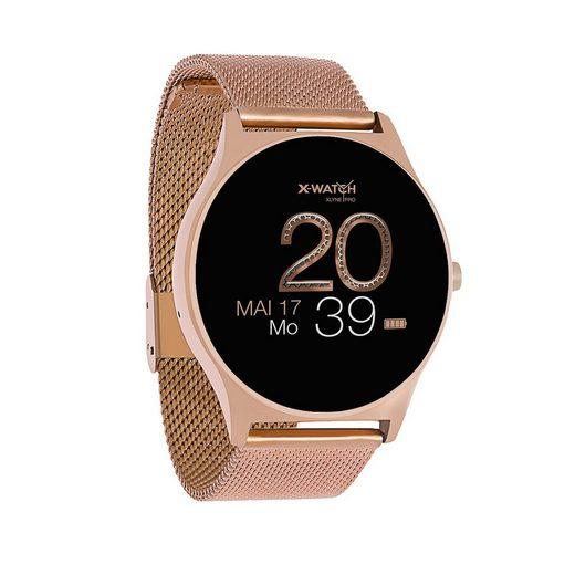 X-Watch JOLI XW PRO Smartwatch, 54029 Rose Gold, Damen Smartwatch mit Puls und Blutdruckmessung
