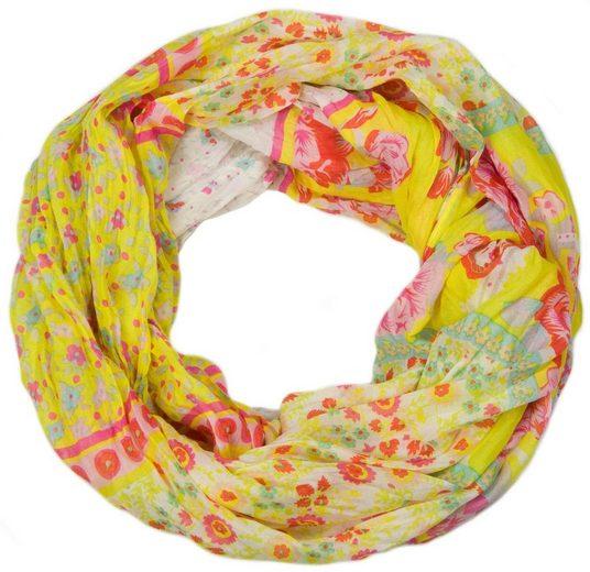 styleBREAKER Loop »Loop mit Blumen Paisley Muster« Loop mit Blumen Paisley Muster