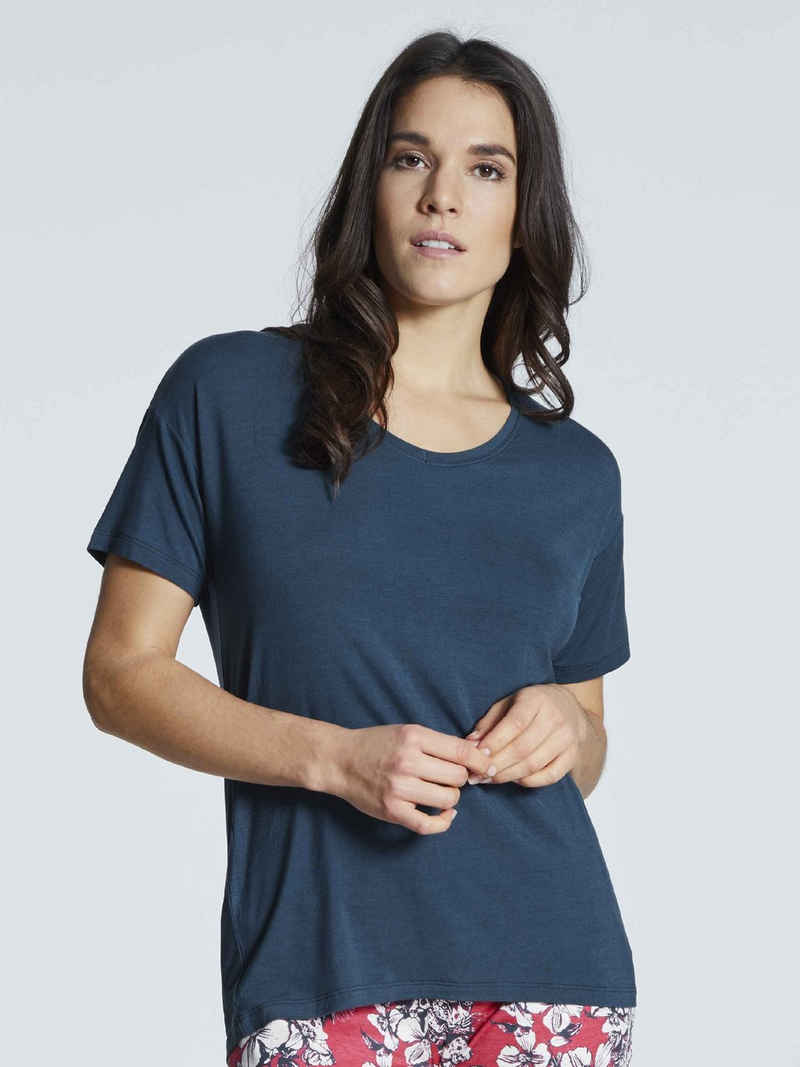 Schiesser Kurzarmshirt »Kurzarm-Shirt mit V-Ausschnitt« (1-tlg)