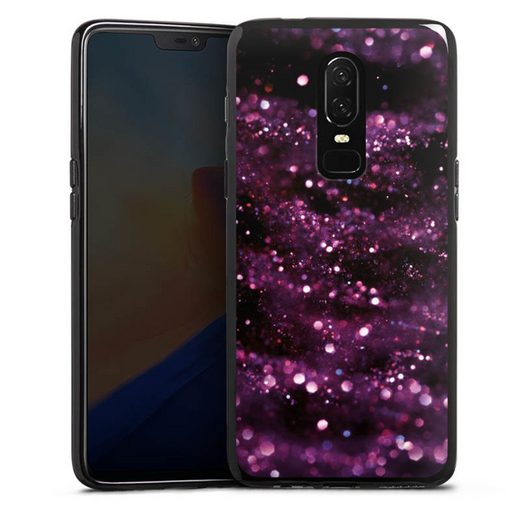 DeinDesign Handyhülle »Lilac Sparkles Look« OnePlus 6, Hülle Glitzer Look Muster Glitter