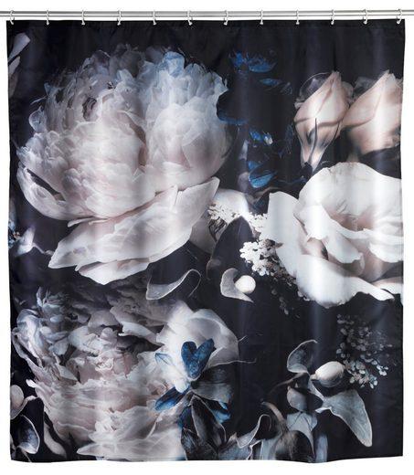 WENKO Duschvorhang »Anti-SchimmelPeony« Breite 200,00 cm, Polyester, 180 x 200 cm, waschbar