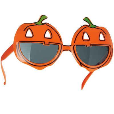 tectake Kostüm »Halloween Spaßbrille lachende Kürbisse«
