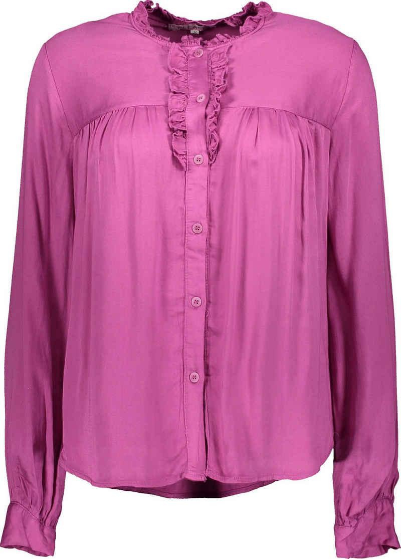 Please Jeans Langarmshirt »C0Q5Z« mit Rüschen und Volant-Besatz