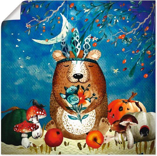 Artland Wandbild »Der müde Bär«, Tiere (1 Stück)