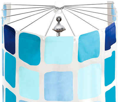 Duschvorhangspinne »Big Spider«, Kleine Wolke, ausdrehbar, Radius 71 cm, für Duschvorhänge mit 12 Ösen