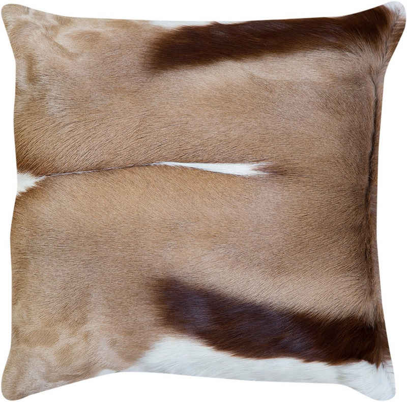 Trendline Fellkissen »Dekokissen Goat«, wohnliches Deko Zierkissen, eckig, 45x45 cm, handgefertigt, echtes Ziegenfell, Naturprodukt - daher ist jedes Kissen ein Einzelstück, Wohnzimmer