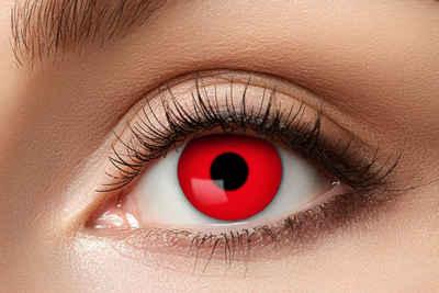 Eyecatcher Farblinsen »Teufel Kontaktlinsen. Farbe rot. Jahreslinsen.«