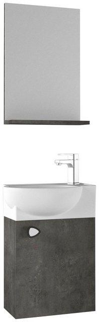 Badezimmer Sets - Badmöbel Set »Riva«, (3 tlg), Breite 45 cm, Gästebad, mit Soft Close  - Onlineshop OTTO
