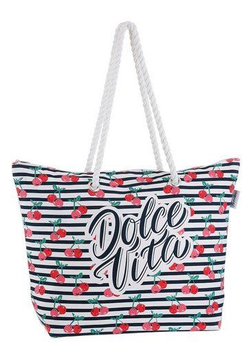 fabrizio® Strandtasche, mit geräumigen Hauptf, ideal für den Strand